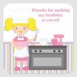 Pegatina de la fiesta de cumpleaños de la hornada