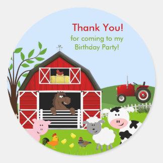 Pegatina de la fiesta de cumpleaños de los