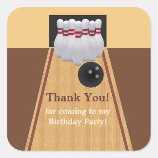Pegatina de la fiesta de cumpleaños de los bolos