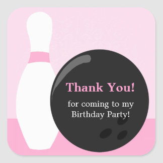 Pegatina de la fiesta de cumpleaños del chica de
