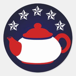 Pegatina de la fiesta del té