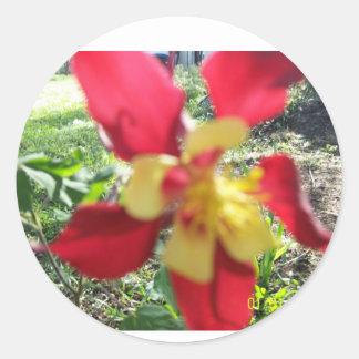 Pegatina de la flor