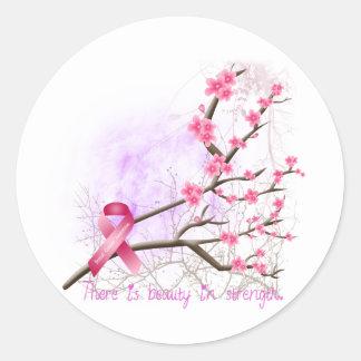 Pegatina de la flor de cerezo de la conciencia del