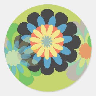 Pegatina de la flor de Folky