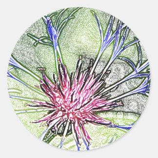 Pegatina de la flor de la estrella de arbolado