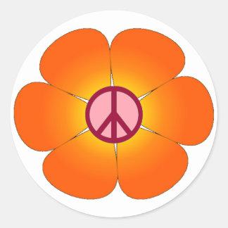 Pegatina de la flor de la paz