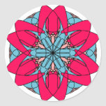 Pegatina de la flor de las rosas fuertes