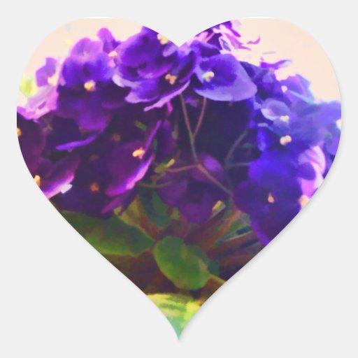 Pegatina de la flor de las violetas africanas