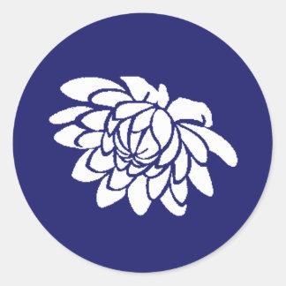 Pegatina de la flor de Lotus (añil)