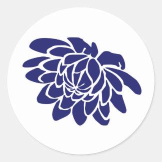 Pegatina de la flor de Lotus azul del zafiro