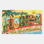 Pegatina de la Florida del vintage