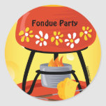 """Pegatina de la """"fondue"""" de queso"""