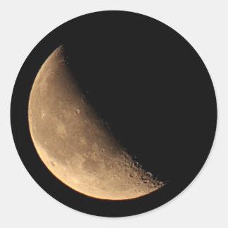 Pegatina de la foto de la luna cuarta de la