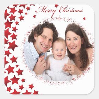 pegatina de la foto del navidad