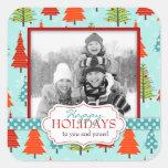 Pegatina de la foto del navidad de la diversión