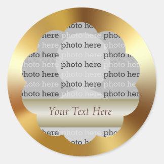 Pegatina de la foto del oro del Metálico-Efecto