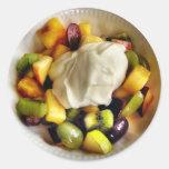 Pegatina de la fruta y del yogur