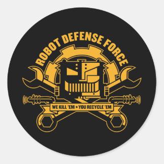 Pegatina de la fuerza de defensa del robot