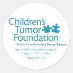 Pegatina de la fundación del tumor de los niños -