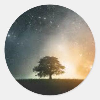 Pegatina de la galaxia del cielo nocturno