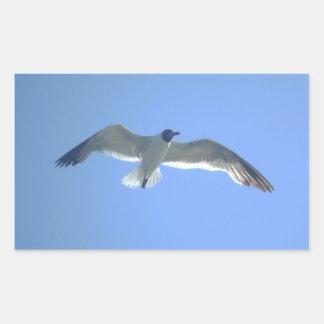 Pegatina de la gaviota en vuelo