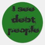 Pegatina de la gente de la deuda