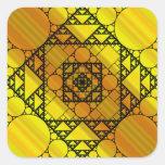 Pegatina de la geometría del fractal