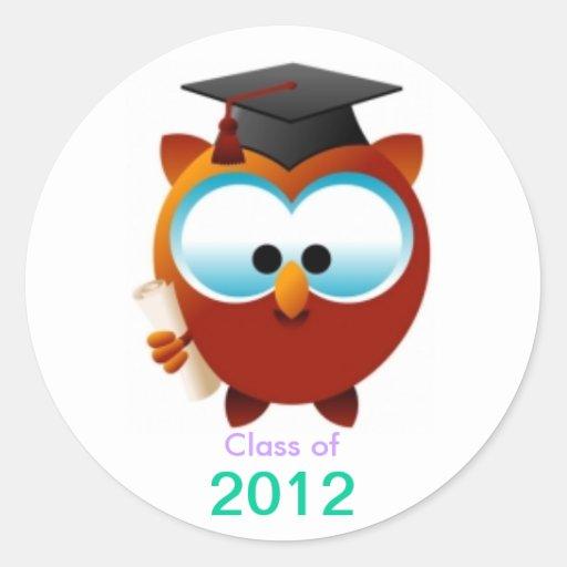Pegatina de la graduación