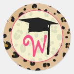 Pegatina de la graduación - monograma del