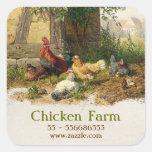 pegatina de la granja de pollo
