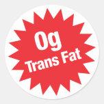 pegatina de la grasa del transporte 0g