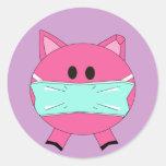 Pegatina de la gripe de los cerdos
