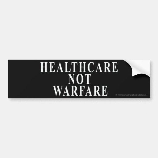 Pegatina de la guerra de la atención sanitaria no pegatina de parachoque