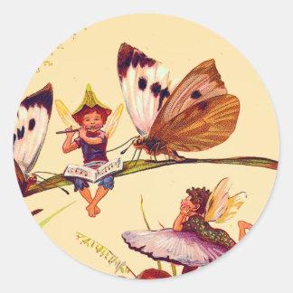 Pegatina de la hada de la mariposa del navidad