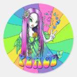 Pegatina de la hada del Hippie de la paz del arco
