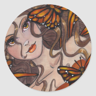 Pegatina de la hada del monarca