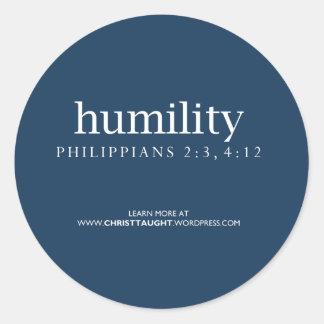 Pegatina de la humildad