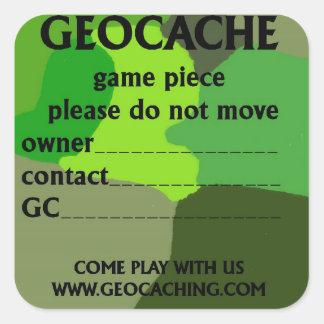 Pegatina de la identificación de Geocache