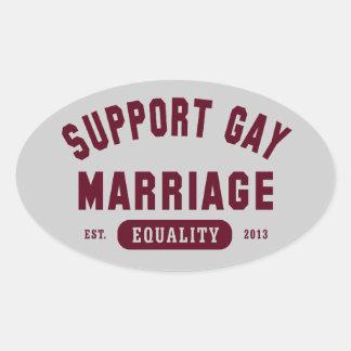 Pegatina de la igualdad del matrimonio homosexual