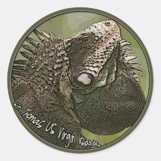 pegatina de la iguana de St Thomas