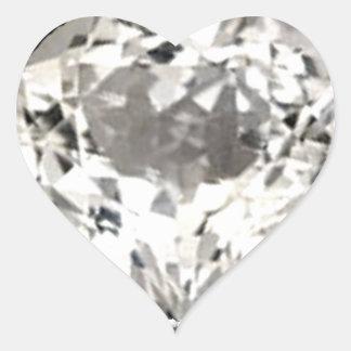 Pegatina de la impresión del diamante del corazón