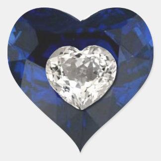 Pegatina de la impresión del diamante del zafiro