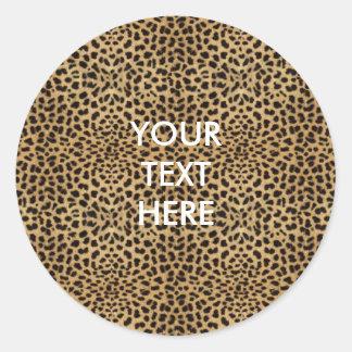Pegatina de la impresión del guepardo