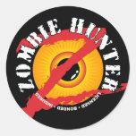 Pegatina de la insignia del cazador del zombi