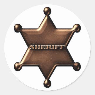 Pegatina de la insignia del sheriff de la