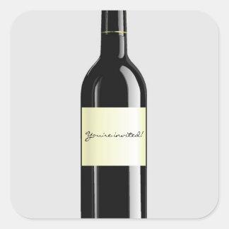 Pegatina de la invitación del vino