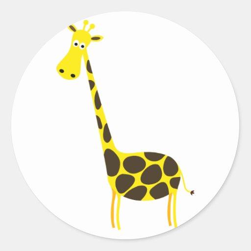 Pegatina de la jirafa del dibujo animado