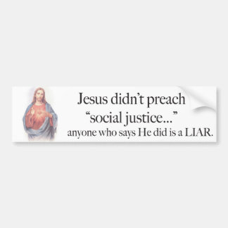 Pegatina de la justicia social de Jesús Etiqueta De Parachoque