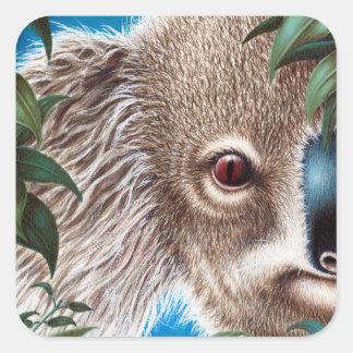 Pegatina de la koala de los objetos curiosos