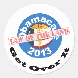 Pegatina de la legislación nacional de Obamacare